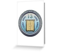 Glitch Achievement corporate cabinetmaker Greeting Card