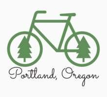 Portland - PDX - City of Trees and Bicycles Kids Clothes