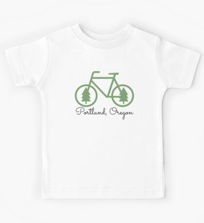 Portland - PDX - City of Trees and Bicycles Kids Tee