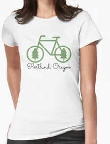 Portland - PDX - City of Trees and Bicycles Womens Fitted T-Shirt