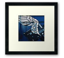 Blu Fly Framed Print