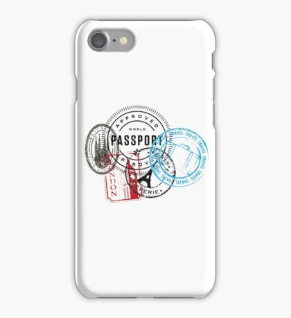 Travel Stamps iPhone Case/Skin