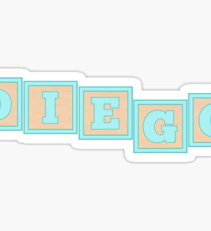 Baby Diego in alphabet building blocks Sticker