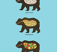 The Eating Habits of Bears by vonplatypus