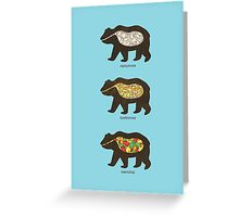 The Eating Habits of Bears Greeting Card