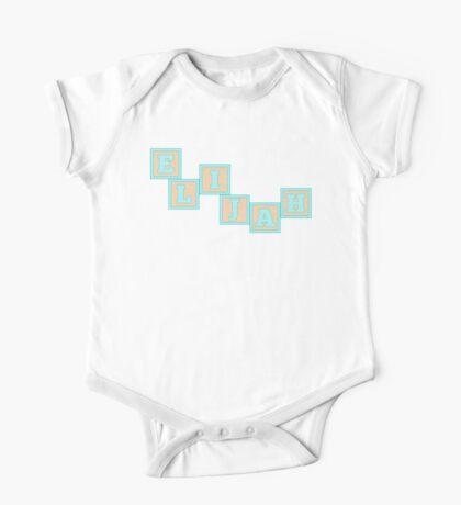 Baby Elijah in alphabet building blocks One Piece - Short Sleeve