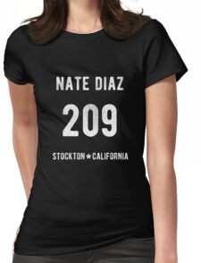 Nate Diaz Stockton 209 Womens Fitted T-Shirt
