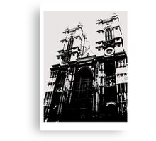 Westminster Abbey Pen and Ink,  London, England, UK Canvas Print