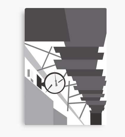 Gray hallway Canvas Print