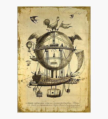 Fantasy Hot Air Balloon Ship Photographic Print