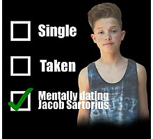 Mentally Dating Jacob Sartorius Photographic Print