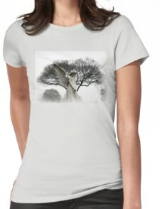 ANGEL IN THE MIST Womens Fitted T-Shirt