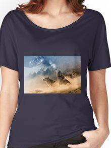 Wolves Howling in the Moonlight Women's Relaxed Fit T-Shirt