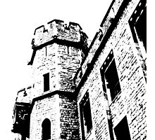 Tower of London Pen and Ink by CorrieJacobs