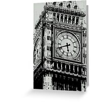 Big Ben Face - Palace of Westminster, London  Greeting Card