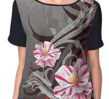 Pink and white floral design Chiffon Top