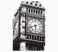 Big Ben Face - Palace of Westminster, London  Kids Tee