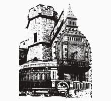 London Composite Pen and Ink One Piece - Short Sleeve