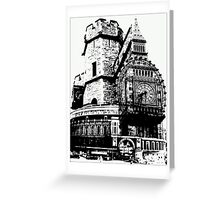 London Composite Pen and Ink Greeting Card