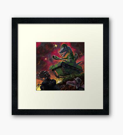 Dinosaur War 01 Framed Print
