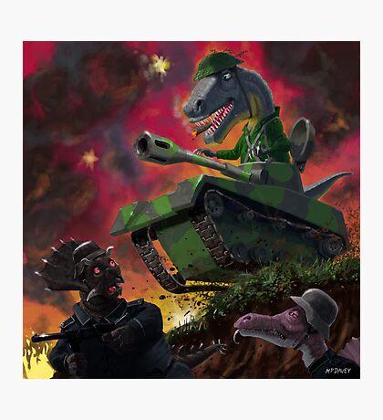 Dinosaur War 01 Photographic Print