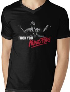 Fuck You Kung Fury Mens V-Neck T-Shirt
