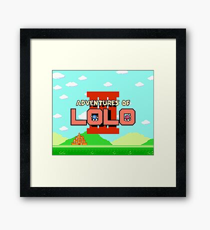 Adventures of Lolo III (NES Title Screen) Framed Print