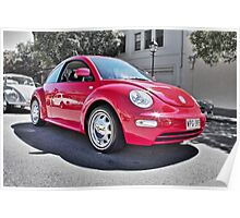 Red Volkswagen New Beetle  Poster