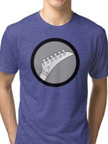 Hockey Neck Guitar Tri-blend T-Shirt