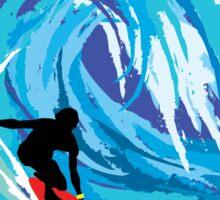 Surfer MALIBU BEACH California Surfing Surfboard Waves Ocean Beach Vacation Sticker