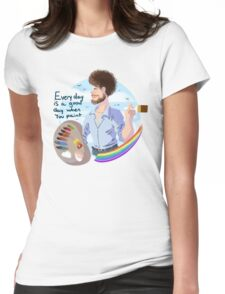 Bob Ross Womens Fitted T-Shirt