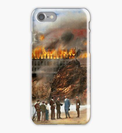 Fire - Cliffside fire 1907 iPhone Case/Skin