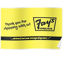 Fay's Drugs | the Immortal Yellow Bag Poster