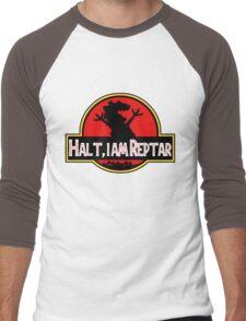 Halt I am Reptar - Jurassic Park Men's Baseball ¾ T-Shirt