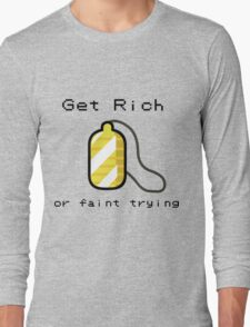 Pokemon Amulet - Get rich or faint trying Long Sleeve T-Shirt