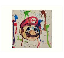 Super Mario Splatter Art Print