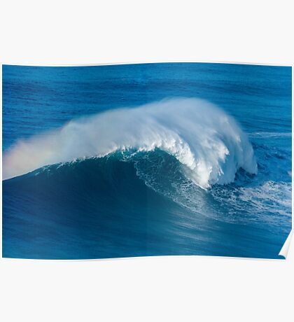 Wave breaking in Nazare Poster