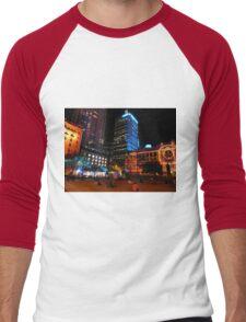 Lit up for the G20 meeting in Brisbane Men's Baseball ¾ T-Shirt