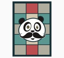 Mustache Panda Kids Clothes