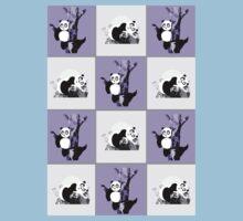 Pandas Checker - Purple Kids Clothes