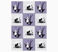 Pandas Checker - Purple Kids Clothes
