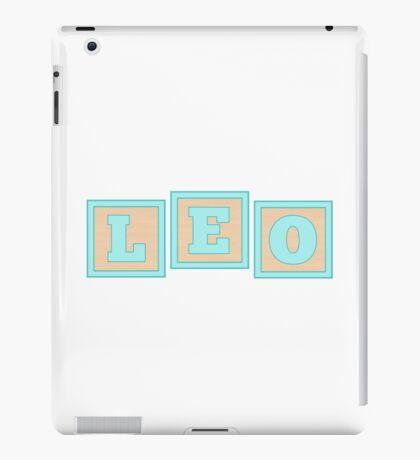 Baby Leo in alphabet building blocks iPad Case/Skin