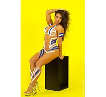Fit Woman - Body Tape Photographic Print