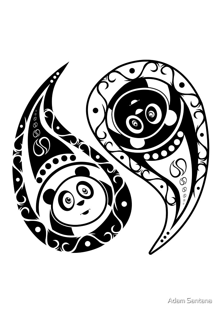 Yin-Yang Panda by Adamzworld