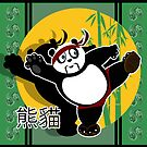Martial Arts Panda - Green by Adamzworld