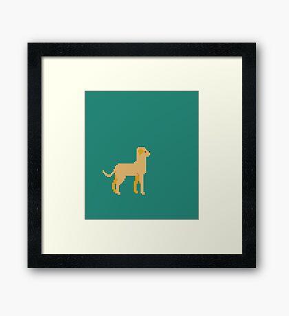 Labrador Pixel Framed Print