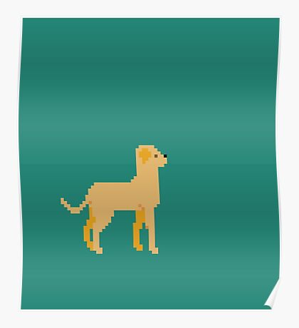 Labrador Pixel Poster