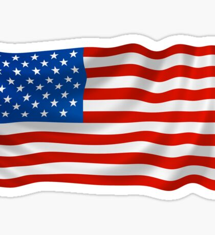 US Flag Wave Sticker