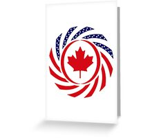 Canadian American Multinational Patriot Flag Series Greeting Card