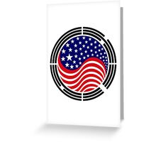 Korean American Multinational Patriot Flag Series Greeting Card